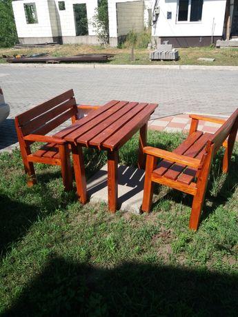 Садовая мебель стол и две лавочки