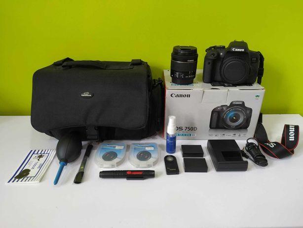 Jak nowy Canon EOS 750D EFS 18-55mm przebieg 2348. Komplet