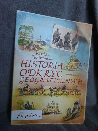 """Książka """"Historia odkryć geograficznych"""" Anna Claybourne"""