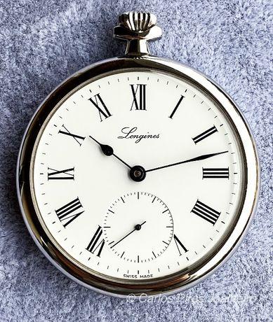 Relógio de bolso Longines Corda Manual Aço