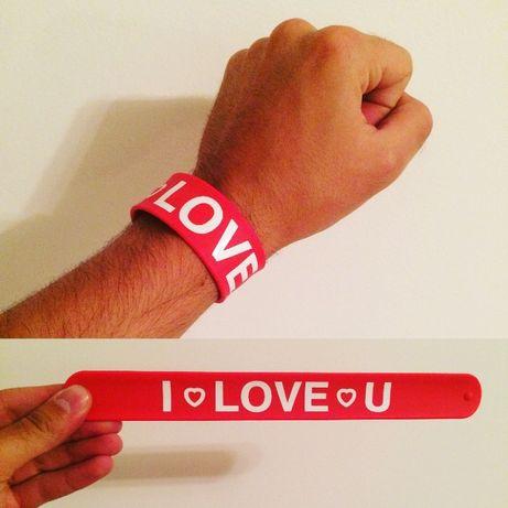"""Pulseira """"I LOVE U"""" ajustável"""