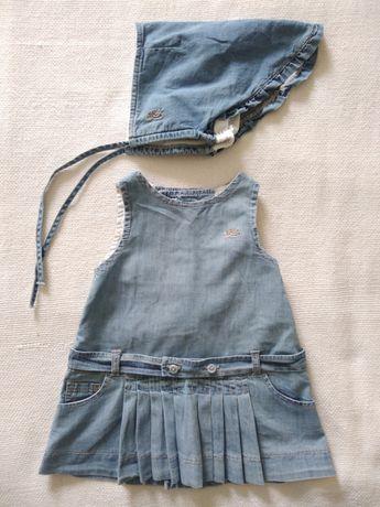 Vestido e touca Laranjinha - 12 meses