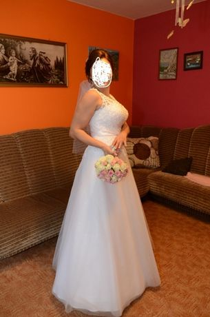 suknia ślubna wyszczuplający krój