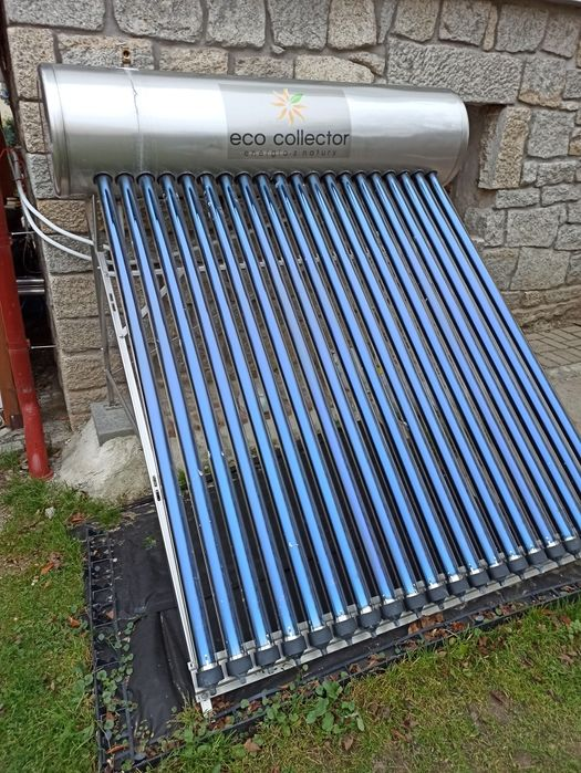 Kolektor słoneczny do ogrzewania wody zbiornik 200l +  grzałka Strzegom - image 1