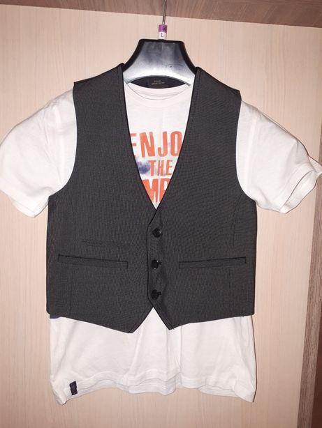 Elegancka kamizelka next bluzeczka Zara