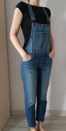 Jeansowe ogrodniczki Abercrombie, rozm. S