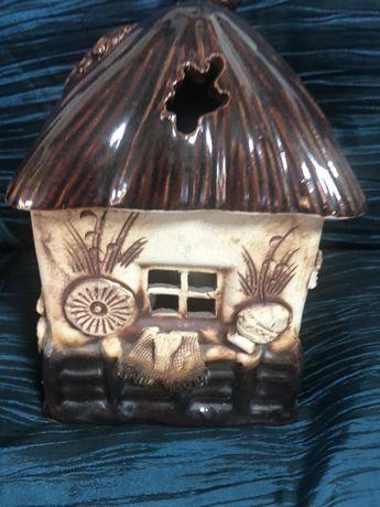Керамический домик доя аромамвечи