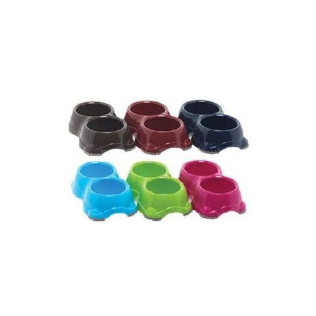 Miska plastikowa z podkładkami antypoślizgowymi - podwójna - rozmiary