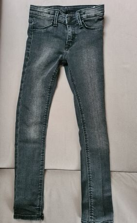 Spodnie dziewczęce rurki H&M r.116-122 bdb