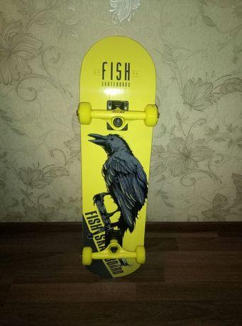 Скейтборд FISH Skateboard Raven