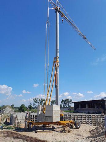 Żuraw samomontujacy dzwig szybkomontujacy budowlany wiezowy 15x16