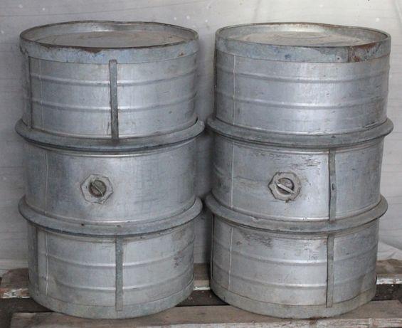 Бочка алюминиевая 200 л с крепежными кольцами советская