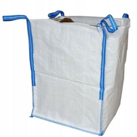 Nowe worki big bag na liście, odpady, gruz, góra otwarta, płaskie dno.