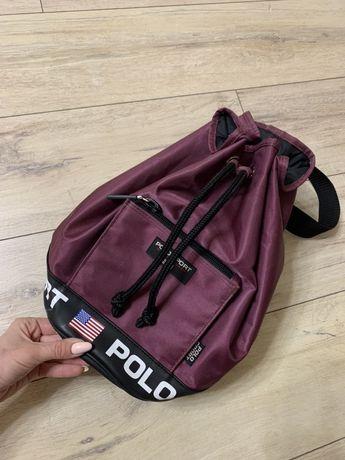 Polo ralph lauren, фирменный рюкзак, сумка бочонок. Оригинал. Идеал