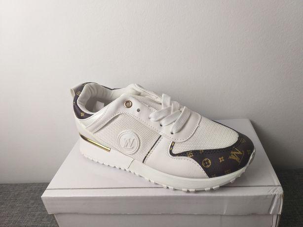 Nowe buty  białe  LV   36  do 41