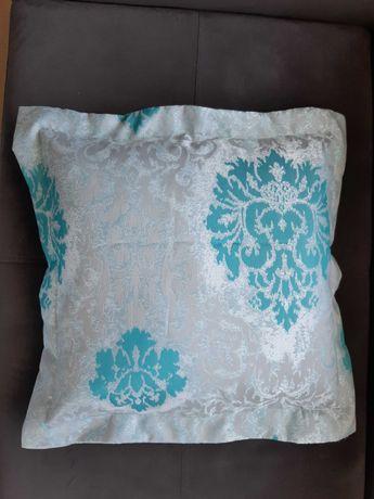 Poszewki na poduszki turkus/kwiaty
