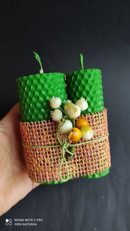 Набор свечей из вощины ручной работы