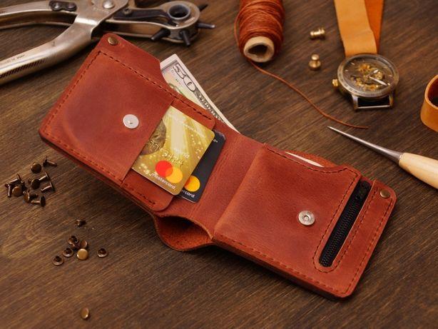 Кожаный кошелек.Портмоне.Бумажник.Модель Restreet.
