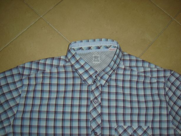 Koszule męskie w kratkę rozmiar L - tanio zobacz!