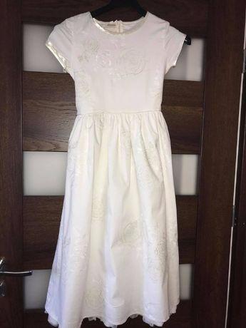 Biała sukienka ROZ. 140 STAN IDEALNY