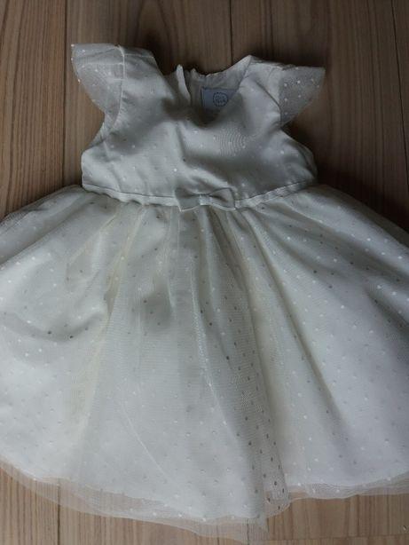 Śliczna sukieneczka do chrztu rozmiar 62 CoolClub / Sukienka do chrztu