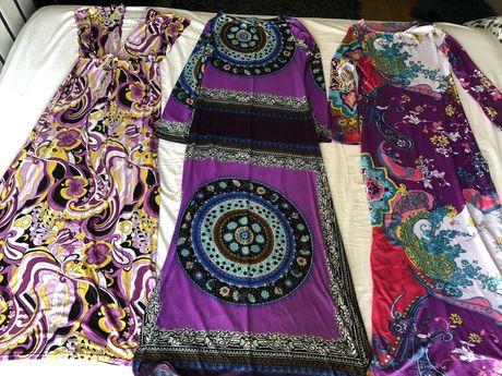 Vestidos compridos em algodão ou lycra fria Vintage Bazaar