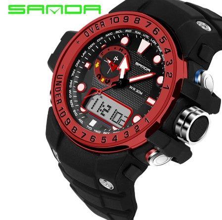 Спортивные водонепроницаемые часы SANDA (4 Цвета) мужские