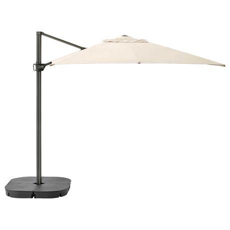 Parasol ogrodowy IKEA z podstawą i pokrowcem
