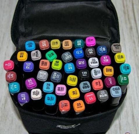 Набір скетч маркерів Touch Coco 48 шт в ЧОРНІЙ СУМОЧЦІ