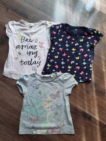 Koszulki hm 92 dziewczynka