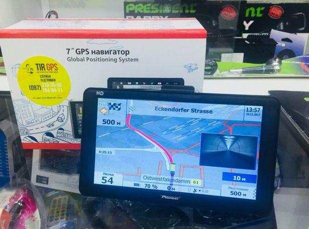 "GPS навигатор 7"" дюймов для грузовых авто Европа"