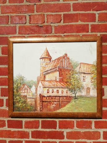 Zamek Olsztyn - obraz na płótnie