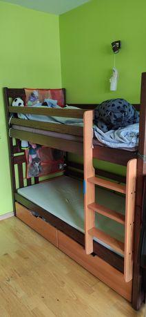 Łóżko piętrowe Roland drewniane SUPER STAN