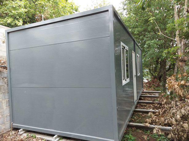 Casa contentor com isolamento térmico