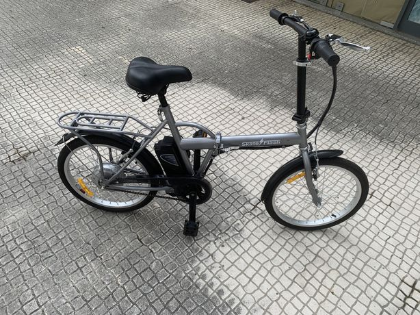 Biciclete ebike SKATE FLASH electrica dobravel cinza