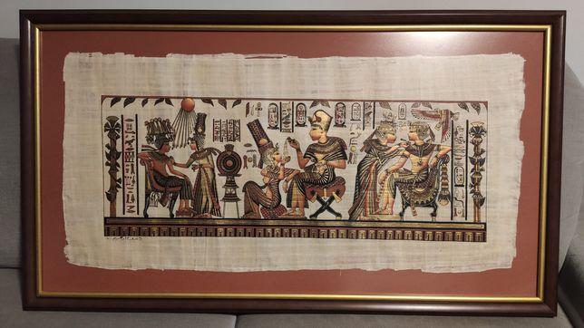 Obraz Egipski papirus lub RAMA DREWNIANA 110x62