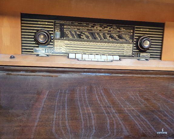 SIEMENS Móvel rádio gira-discos (artigo vintage)