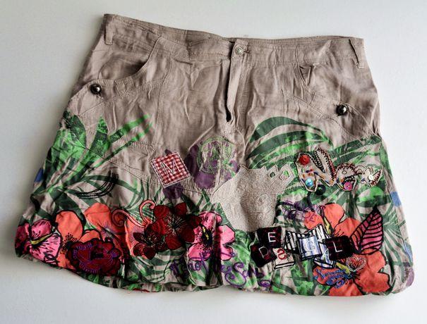 DESIGUAL patchworkowa spódnica bombka 42