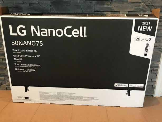 "LG 50NANO753PA 50"" 4K UHD nowy, gwarancja"