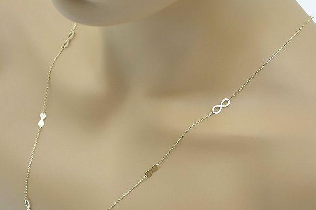 Złoty łańcuszek żółte złoto włoski, Nieskończoność! ccc009 B