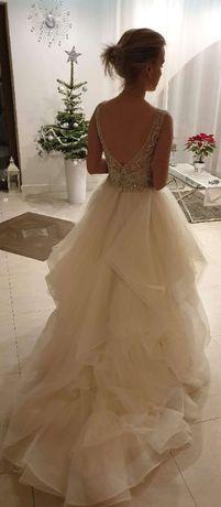 Piękna Suknia ślubna Justin Alexander Signature 9847 Ivory