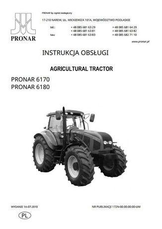 Instrukcja obsługi ciągnika Pronar 6170, 6180 PL