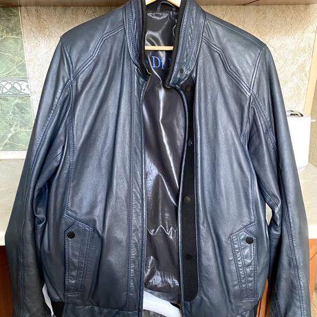 Кожаная мужская  курточка весенняя