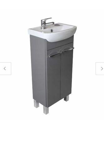 Nowa szafka z umywalką do łazienki grafit TANIO