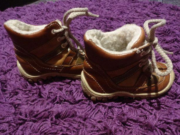 N-BUT śliczne skórzane buciki na zimę 21