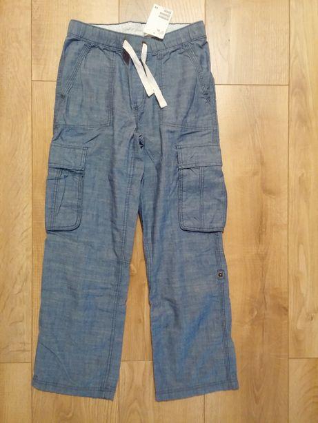 nowe H&M spodnie bojówki dla chłopca rozm. 134, bawełna 100%
