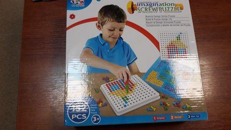 Пазл конструктор Мозаика болтовая с отверткой Screw Puzzle