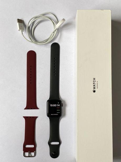 Apple Watch 3 42mm GPS, Cellular, Stan BDB, Brak rys, Gwarancja