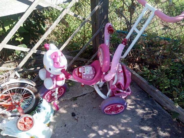 Срочно продам детский велосипед мальчик и детскаядля коляска велосипед