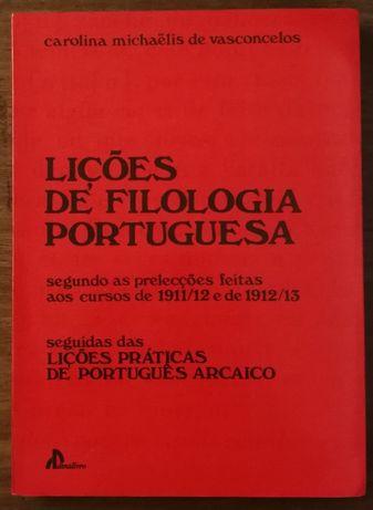 lições de filologia portuguesa, carolina michaëlis de vasconcelos